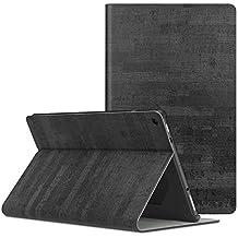 MoKo Hülle Fire HD 10 Tablet (7th Gen.- 2017 Modell) - Stoßfest Ledertasche Schutzhülle mit Standfunktion und PC Bumper für All-New Amazon Fire HD 10,1 Zoll Tablette, Schiefer Schwarz
