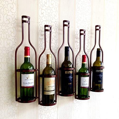 MWPO Weinregale Wandbehang Weinglashalter Hängender Weinregal Wein Schmiedeeisen Weinregal (Farbe: Bronze)