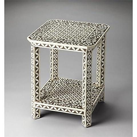 Butler Brown Bone Inlay Side Table - 3449326