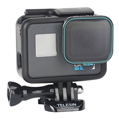 TELESIN CPL Filter 1Pack Objektiv Filter CPL-Kamera Objektiv Displayschutzfolie Circular-Polfilter Filter mit Objektivdeckel für GoPro Hero 6Hero 5(CPL)
