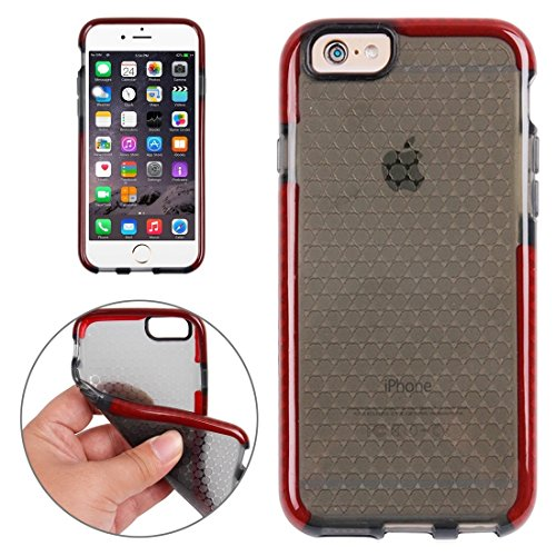 Wkae Case Cover Für iPhone 6 &6s Honeycomb Textur TPU-Schutzhülle ( Color : White ) Red