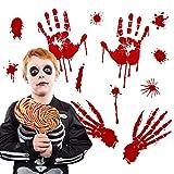 Quaan niedlich kreativ Halloween Karikatur Kürbis Blutig Fußabdrücke Fußboden Klammert Sich Halloween Vampir Zombie Party Dekor Aufkleber Dekor Zuhause Party Lager Geschenk Festival Dekorationen