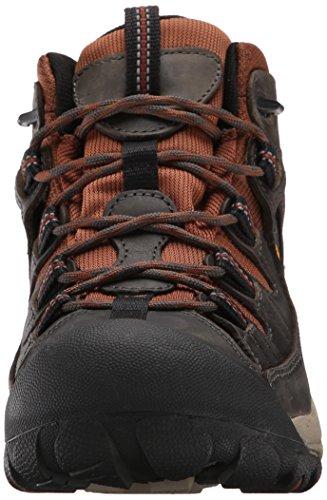 Keen Targhee II Mid WP, Chaussures de Randonnée Hautes Homme Marron (Raven/tortoise Shell 0)