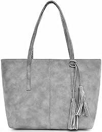 Tibes Damen PU lederne Handtaschen tasche