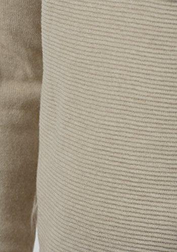BLEND Otto Herren Strickpullover Feinstrick Pulli mit Grandad-Kragen aus 100% Baumwolle Sand Mix (70810)