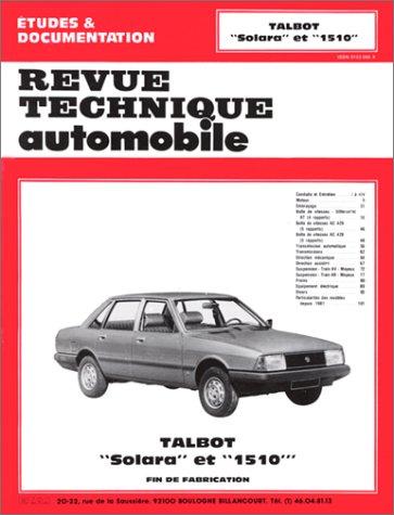 Revue technique de l'Automobile :Talbot Solara et 1510