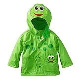 Mädchen Junge Regenmantel Kinder Süß Frosch Regenjacke mit Kapuze Wasserdicht Jacke Regenmantel (S: 80-90cm (Herstellergröße 90), Grün)