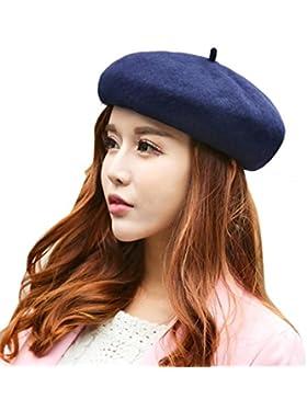 Tefamore Sombrero de las Mujeres Invierno de Caliente Gorro de Suave de Moda de elegante de Retro