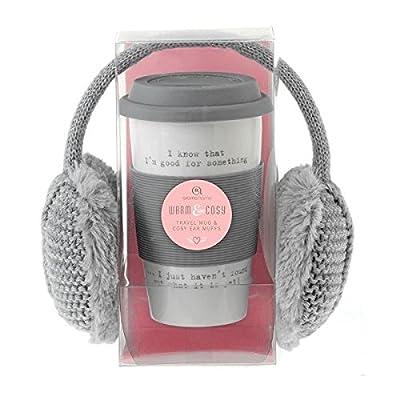 Aroma Home Travel Mug and Cosy Earmuffs Gift Set