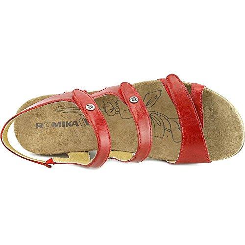 Romika Bali N 07 Cuir Sandales Compensés Rot-Red