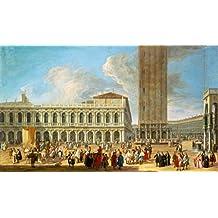 """Stampa artistica / Poster: Luca Carlevarijs """"Die Piazza San Marco in Venedig"""" - stampa di alta qualità, immagini, poster artistici, 80x65 cm"""