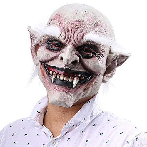 Alte Meme Kostüm - Halloween Horror Grimasse Geistermaske Vampir Maske Spukhaus Böser Mörder Gruseliger Alter Mann Maske Latex Parteien Cosplay Kostüm