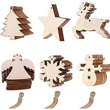 Baumschmuck Holz blanko, Weihnachtsbaumanhänger zum