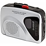 Groov-e Portable Retro Personal Cassette Player and Recorder with Built-In Speaker & Microphone