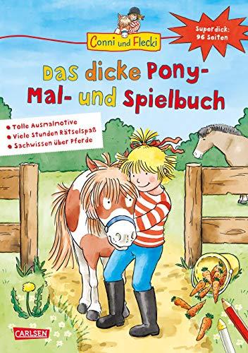 Conni und Flecki: Das dicke Pony-Mal- und Spielbuch: Superdick: 96 Seiten Spaß mit Conni und Flecki