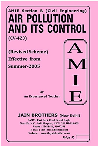 AMIE Air Pollution and its control CV 423 Solved Paper