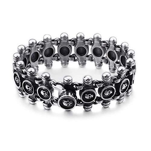 WJSW Edelstahlarmband Herren Kette Schweres Armband Panzerarmband Titan Stahl Taro Mode Herrschsüchtig Herren Vintage Schmuck Armband