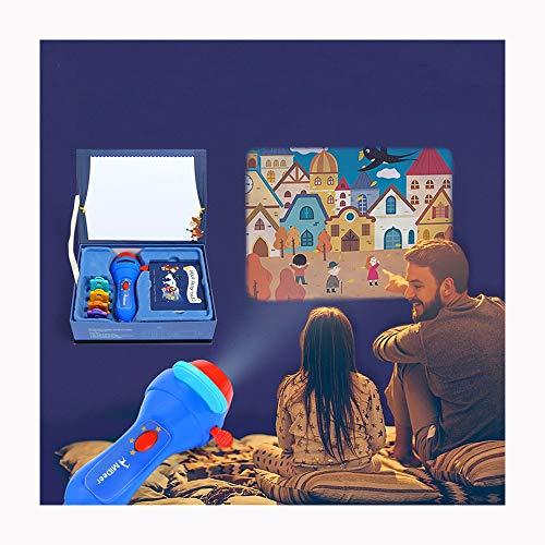 Link Co Kinderspielzeug Pädagogisches Spielzeug-Kleinkind mit 4 Themen und 32 Arten von Mustern Verbesserte Projektionsfackel für Geschichten
