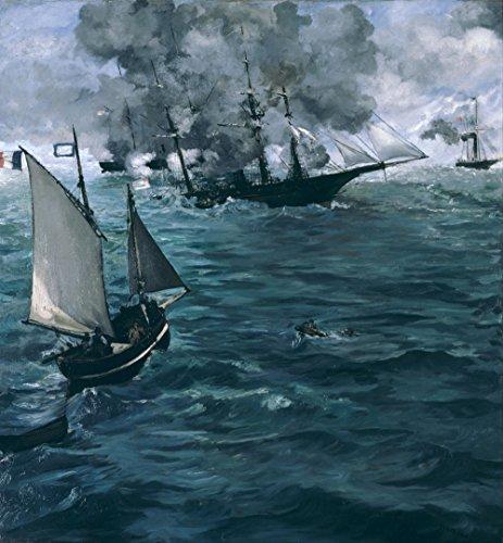 Das Museum Outlet-Manet-Die Schlacht an der Kearsarge und dem Alabama-A3Poster