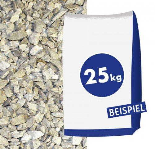25kg Kalksteinbruch - in der Farbe Sonnengelb Yellow Sun 40-70mm Sack - zur dekorativen und individuellen Gartengestaltung