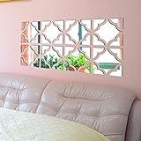 kingko® 20pcs DIY entfernbarer Acrylspiegel-Wand-Aufkleber-Abziehbild-Ausgangsvinyl-Wanddekor (Silber)