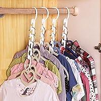 Hinmay Perchas de plástico con ganchos, negro fuerte ropa maravilla ganchos organizador para el hogar niños mujeres ropa herramienta de almacenamiento
