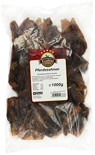 EcoStar Perros Snack Caballos tendones 1kg, 1er Pack (1x 1kg)