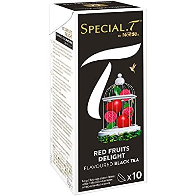 SPECIAL.T by Nestlé Thé Noir Red Fruits Delight Boîte 10 Capsules 25 g - Lot de 6