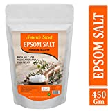 Nature's secret Pure Epsom Salt (Bathing,Relaxation,Pain Relief, Therapeutic Spa Treatment) (450)
