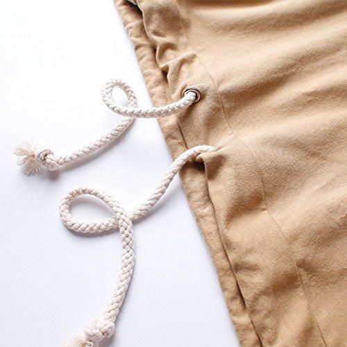 ETASSO Herren Hooded T Shirt Lässiges Shirt Hoodies Jungen Streetwear Tops Braun