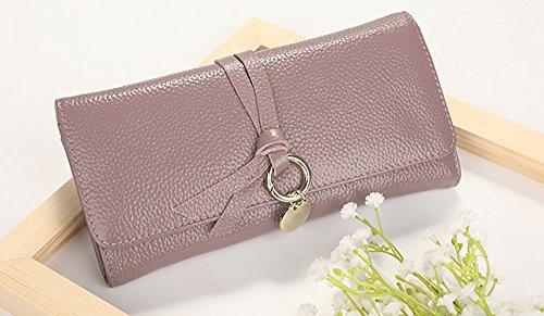 CLOTHES- Portafoglio lungo della borsa della signora Semplicità di svago Borsa multifunzionale femminile della borsa multifunzionale ad alta capacità di trasporto ( Colore : Rosso ) Viola