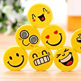 #8: Nsquareshop Smiley Erasers for Birthday Return Gifts- Pack of 24