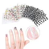 drawihi 50pcs assortimento Adesivo Decoracion per unghie Decal DIY unghie strumento di decorazione arte adesivi unghie adesivi 6.3 X 5.3MM 2