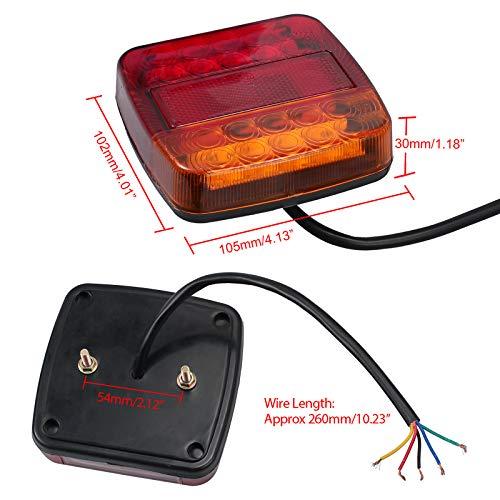 AUTOUTLET 2 luces LED para matr/ícula de 12 V 24 V con 4 tornillos universales para coche furgoneta cami/ón remolque caravana UTE barco