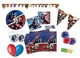 DECORATA PARTY Kit N 59 Coordinato per compleanno Avengers Civil War