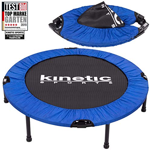 Kinetic Sports 1.Platz Testbild Auszeichnung Fitness Trampolin Indoor Minitrampolin Sprungtraining, Smart Jumping Workout, Durchmesser 102cm, faltbar, Belastbar bis 100kg