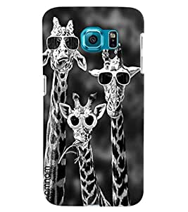 Omnam Giraffe Wearing Sunglasses Black And White Finished Designer Back Cover Case For Samsung Galaxy S7