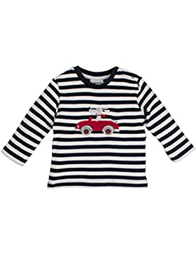 SALT AND PEPPER Baby-Jungen Langarmshirt NB Longsleeve Bear Stripe