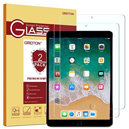OMOTON [2 Stück] Panzerglas Schutzfolie für iPad Air 10.5 [2019]/ iPad Pro 10.5 [2017], 9H Härte, Anti-Kratzen, Anti-Öl, Anti-Bläschen