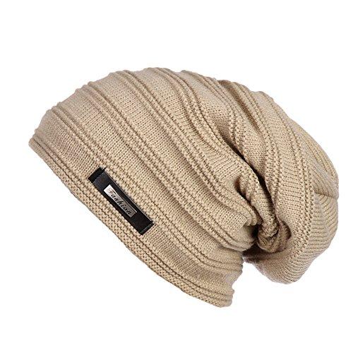 ERIC YIAN Warme Long Slouch Beanie Grobstrick Feinstrick M¨¹tze mit sehr weichem Fleece Innenfutter (Hüte Designer Beanie)