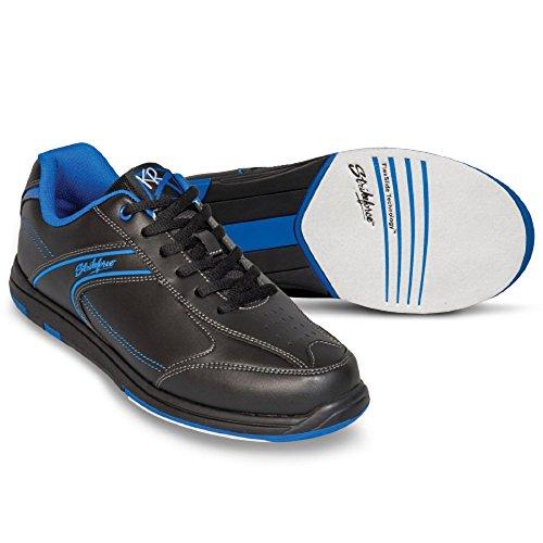 KR Strikeforce Flyer Bowling-Schuhe Damen und Herren, für Rechts- und Linkshänder in 4 Farben Schuhgröße 38,5-48 mit gratis Schuh-Deo Titania Foot Care (Blau, US 13 (45,5)) (Schuhe Dexter Bowling)
