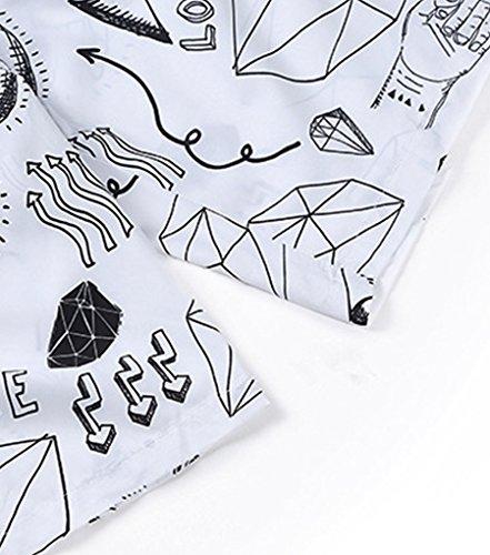 NiSeng Hommes & femmes Casual Shorts De Plage 3D Impression Numérique Maillot De Bain Boardshorts S06