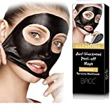 MML 1Pc Beauty Activated Natural Charcoal Black Mask Blackhead Peel Off Remover Cream Deep Skin Clean Purifying Peel Acne Mud Nose and Face Mask