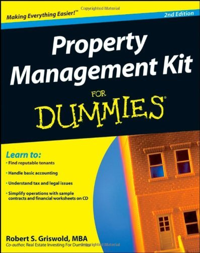 Property Management Kit For Dummies by Robert S. Griswold (29-Aug-2008) Paperback