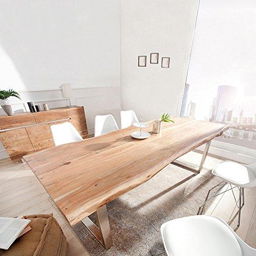 CAGÜ Exklusiver Design ESSTISCH [AMBA] Natur aus Massiv AKAZIENHOLZ 200cm x 100cm & 60mm TISCHPLATTE, Neu!