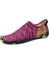 DoGeek Scarpe da Nuoto Water Shoes Scarpe per Sport Acquatici Scarpe Nero Giardini Acqua Scarpe Uomo da Pantofole Spiaggia Pelle Sandali,Giallo,43