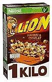 Nestlé Cerealien Lion Cereals, Karamell und Schoko mit Vollkorn, 3er Pack (3 x 1.05 kg)