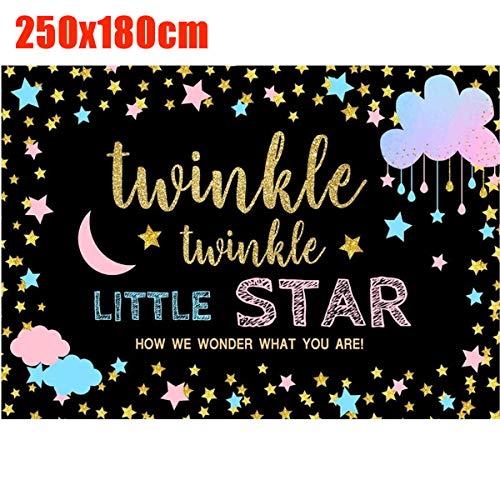 ChaRLes Fotografie Hintergrund Twinkle Little Star Hintergrund Kinder Geburtstag Foto Studio Dekorationen - L