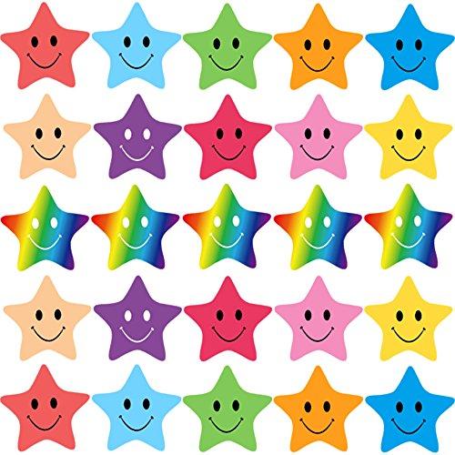 FEPITO 10 Hoja 350 PCS Smiley Star Stickers Mini Pegatinas