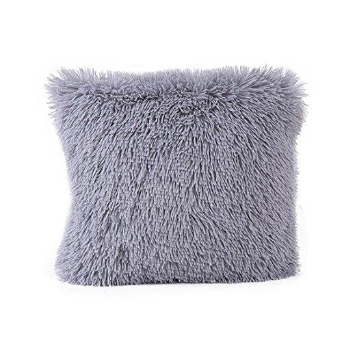 Sunnywill Kissen Fällen Sofa Taille Throw Kissen Cover Home Decor für Zuhause Nur Deckel (Grau)